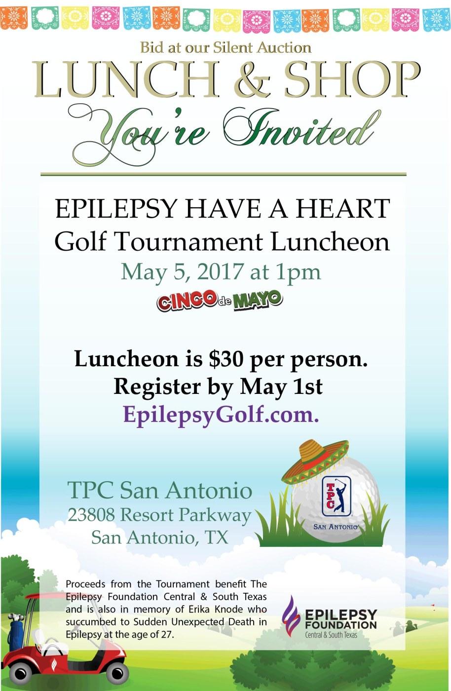 SA Golf Lunch & Shop Invite